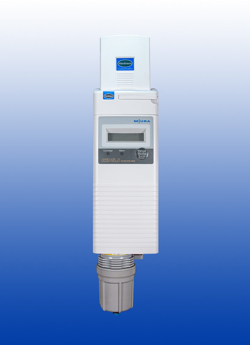 Prevent water hardness damage to your boiler with Miura's Colormetry Hardness Detection System.