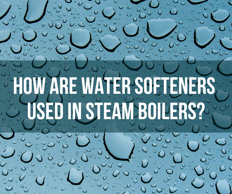 How are water softeners used in steam boilers?