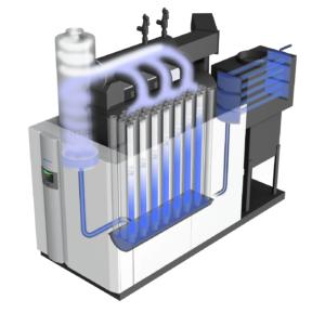 Miura's LX gas-fired steam boiler