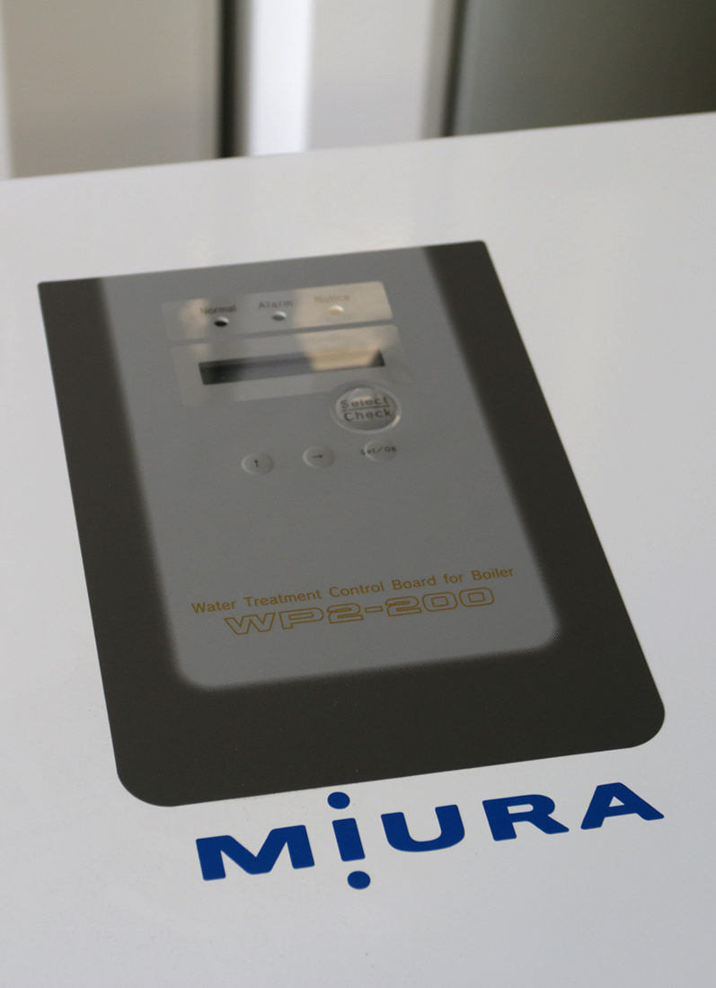 The Miura WP2 panel is a communication hub for multiple components of your Miura water treatment system.